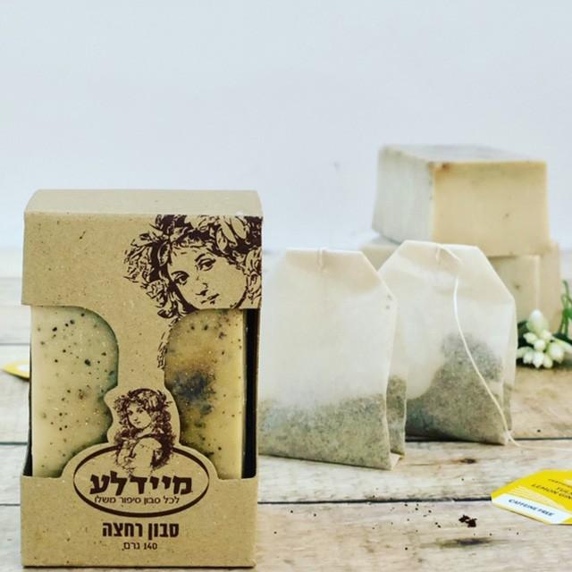 סבון פילינג תה ירוק